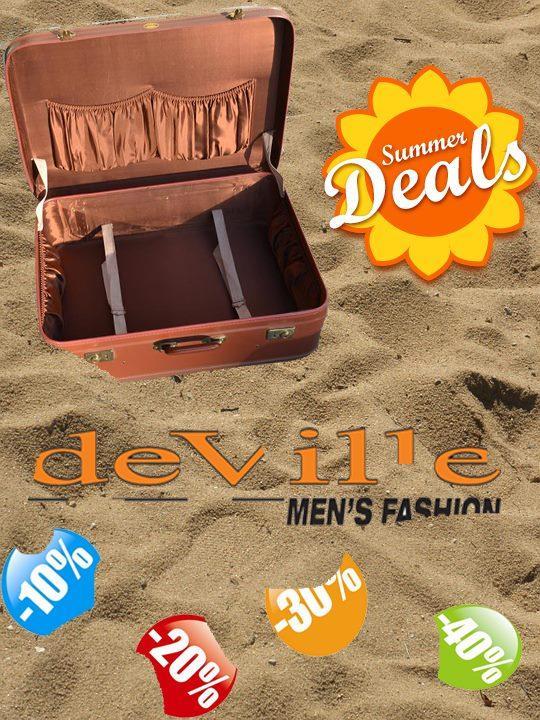 Tijd om nog snel je koffer te vullen @deVilleFashion !